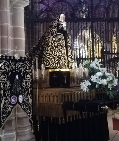 La Dolorosa espera ya en la Catedral