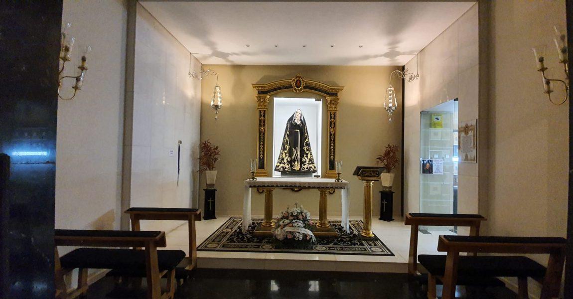 La Virgen Dolorosa de nuevo en su capilla